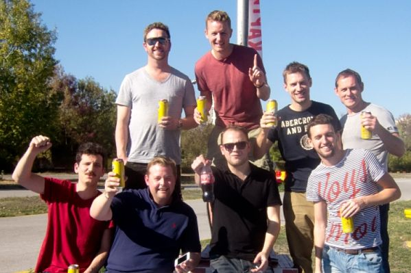 Chris Perry's stag do abroad