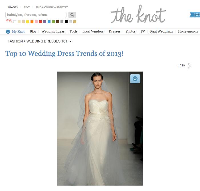 The Knot Wedding Dress trends 2013