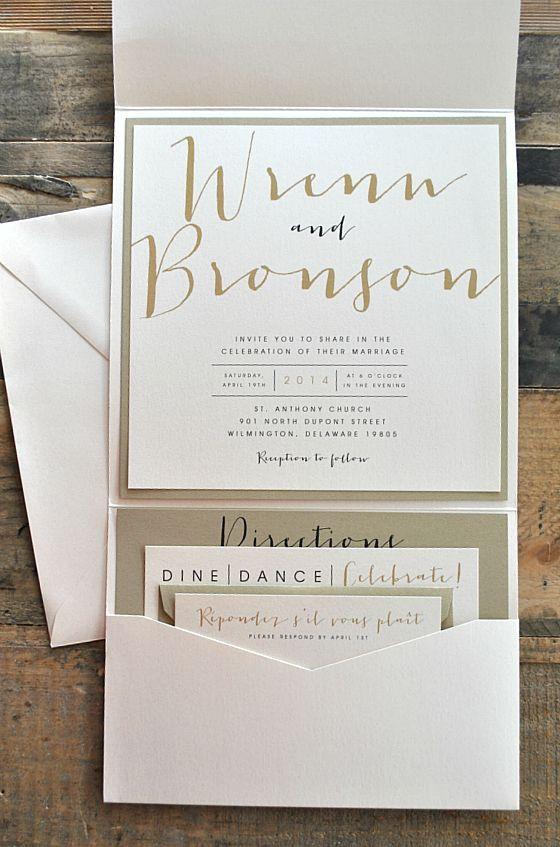 save money wedding invitation