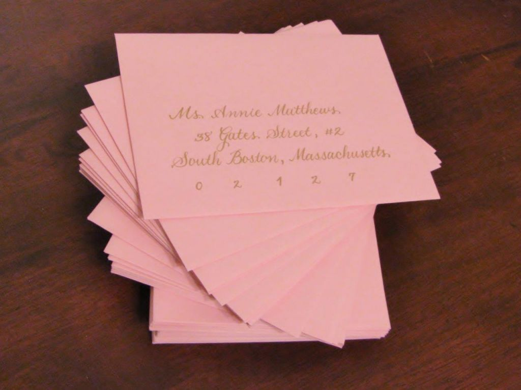 Should Wedding Invitations Be Hand Addressed: How To Address Bridal Shower Invitations