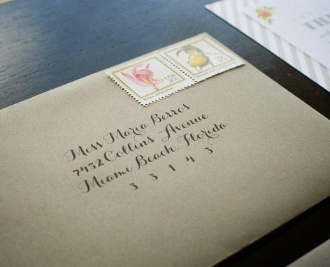 bridal shower envelope addressing