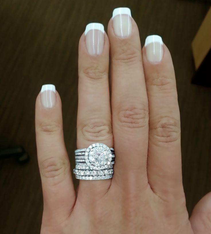 large diamond wedding band