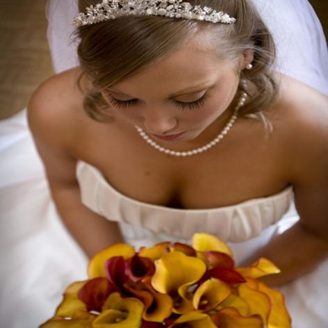 Bride with accessories