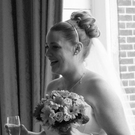 bridal hair with bangs