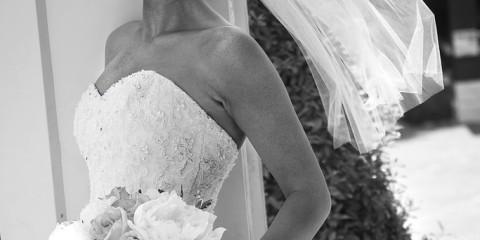 Bride by a Column