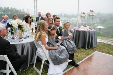 Family at a small wedding