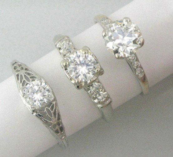 wedding rings and diamonds