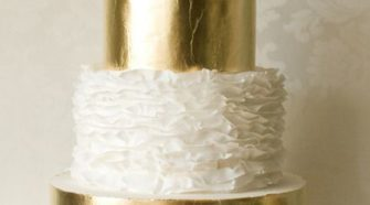 golden wedding cakes designs