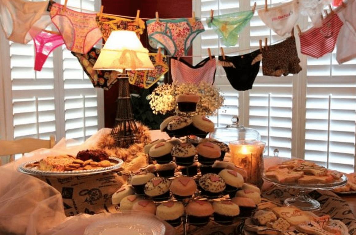 lingerie themed bridal shower