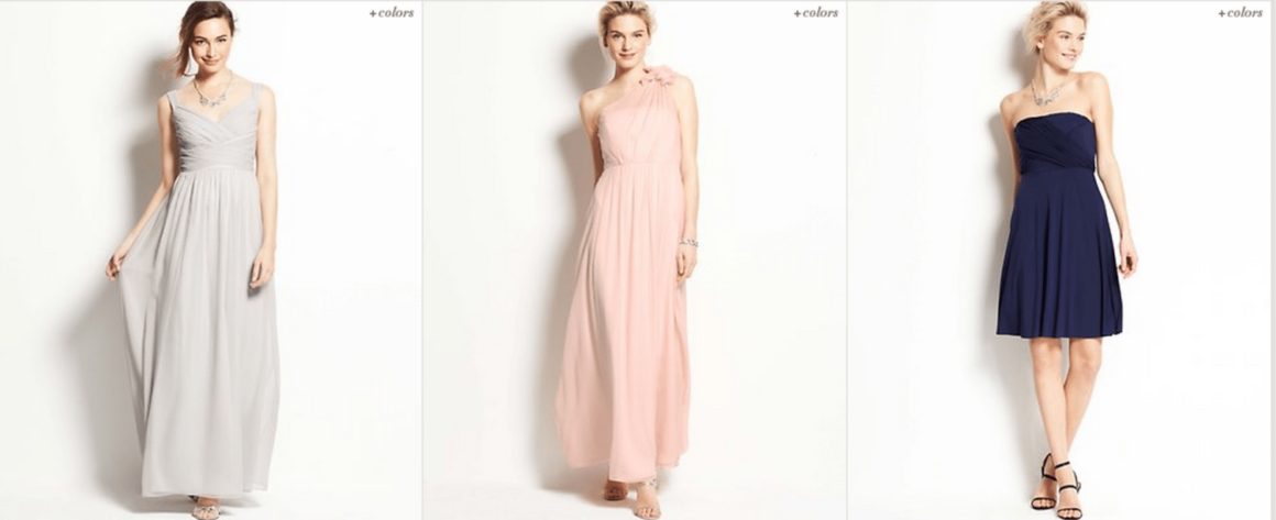 Perfect Bridesmaids Dresses From The 2014 Ann Taylor Wedding