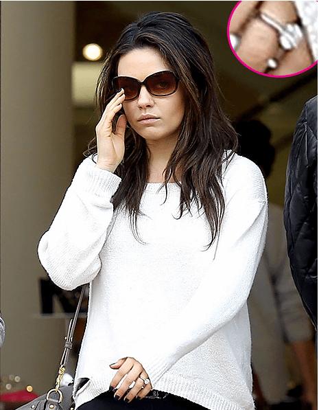Mila Kunis Engagement ring