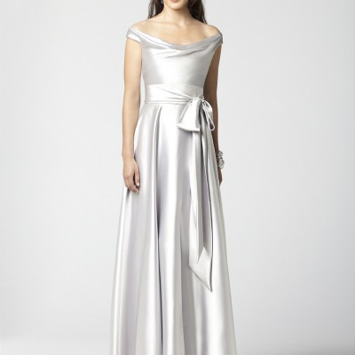 Silver Bridesmdaid Dress