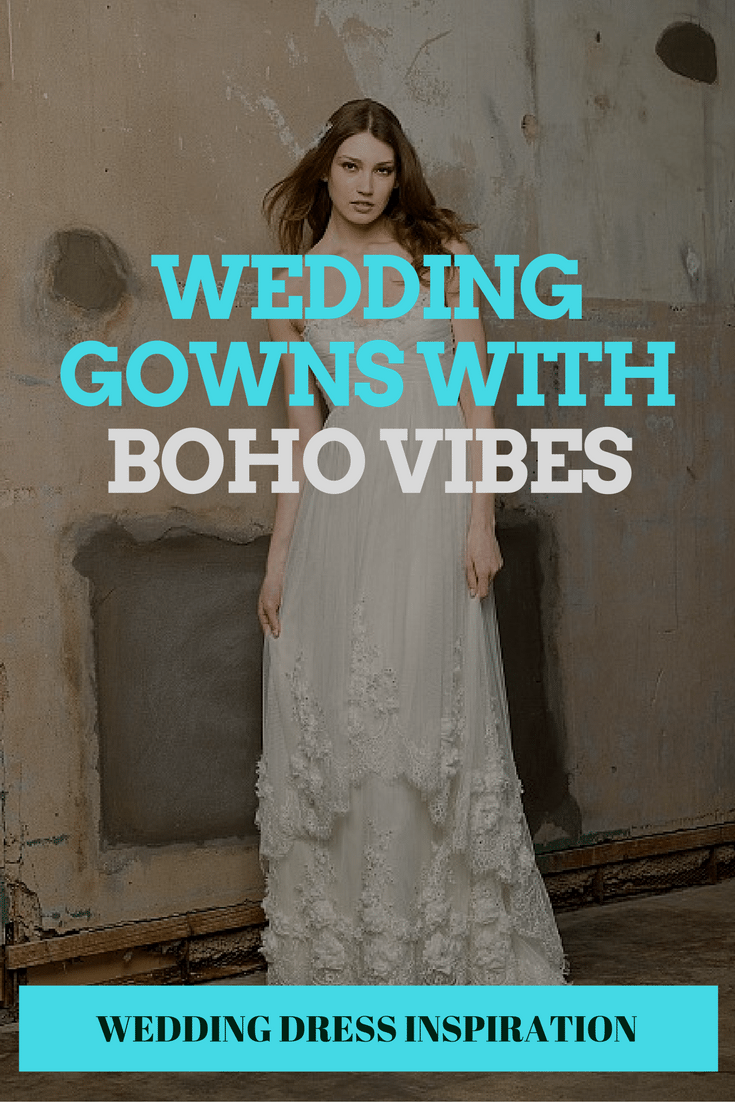 wedding gowns with bohemian vibes