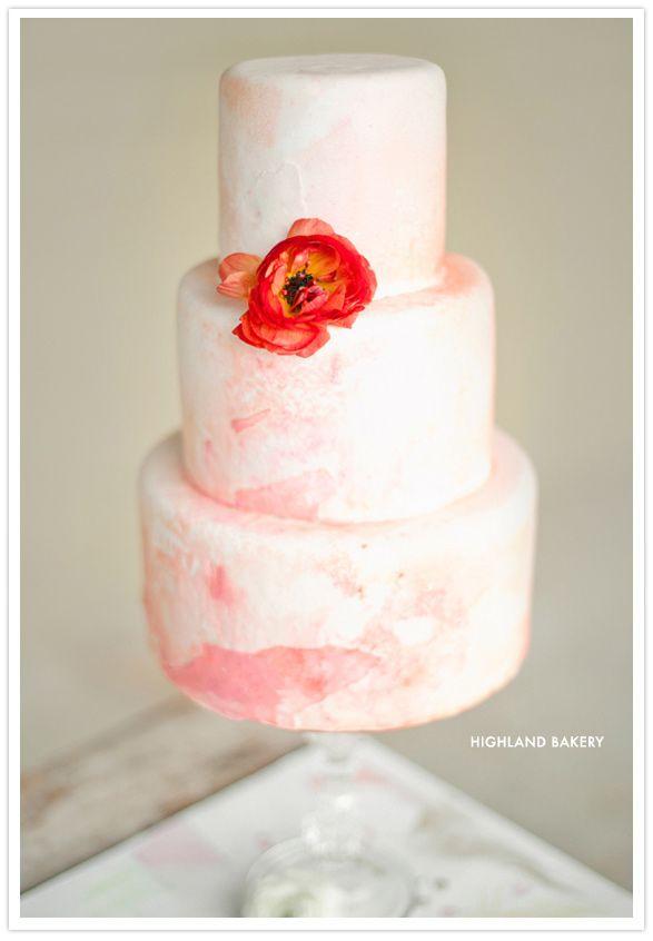 hot pink wedding cake