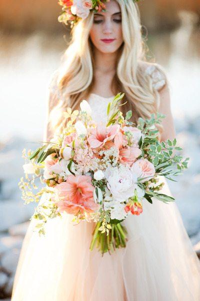 10 Beautiful Blushing Pink Blooms Bouquet Inspiration