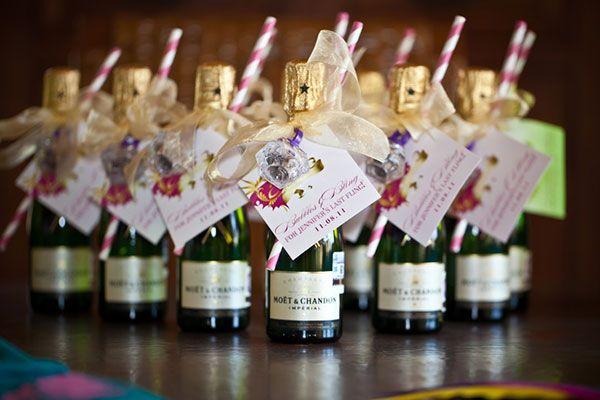 mini champagne favor