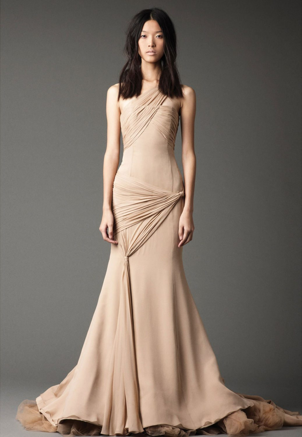 Taupe Wedding Gown