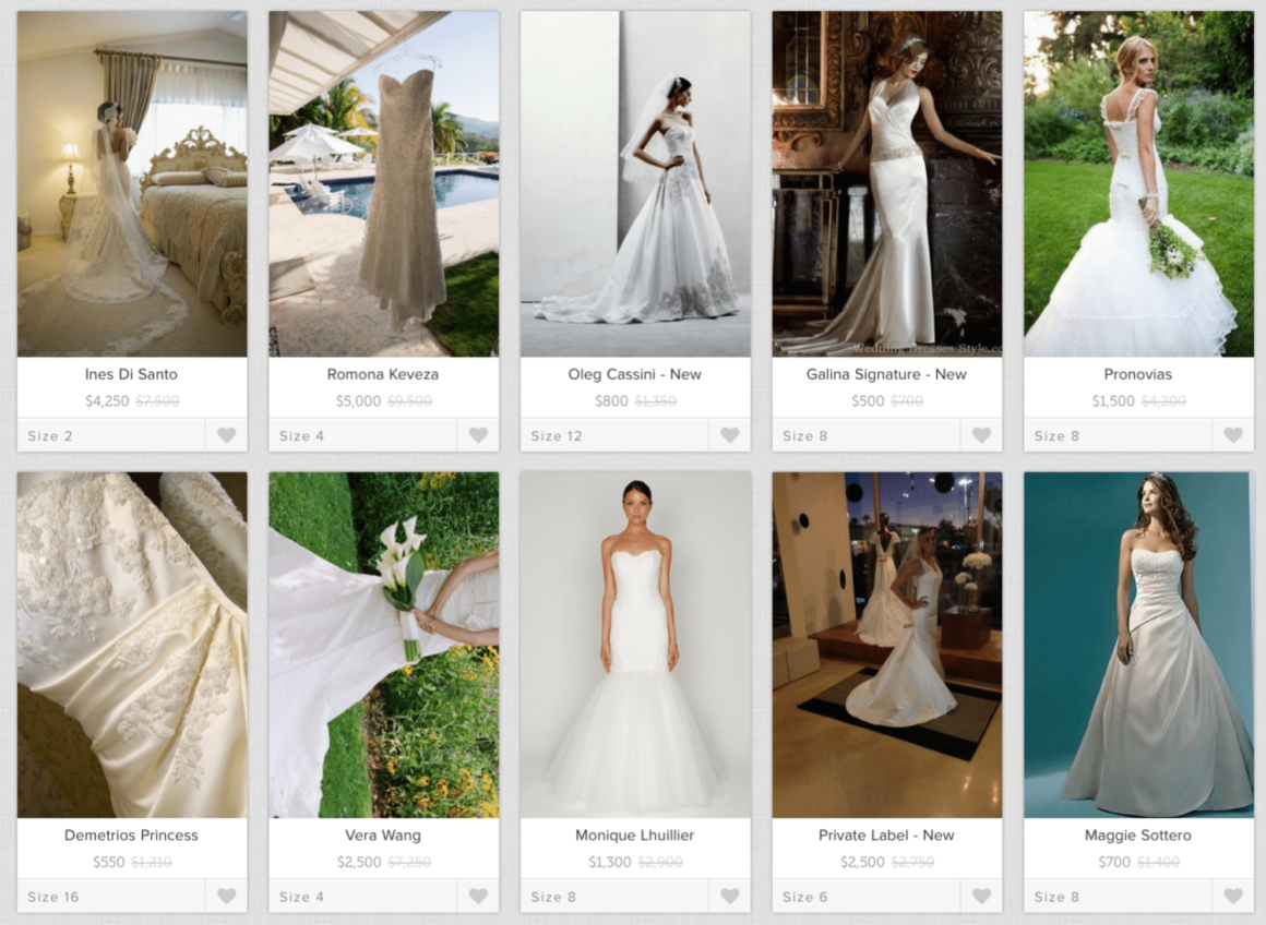 7 Places to Buy a Preowned Wedding Dresses Online ...
