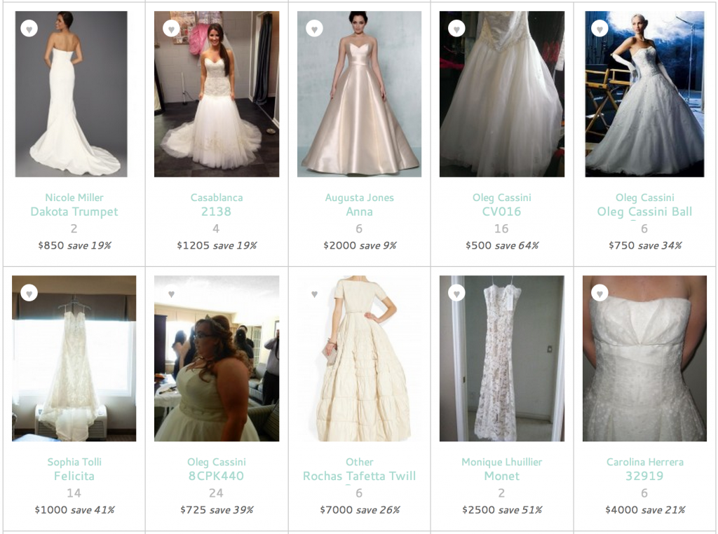 preowned wedding dress