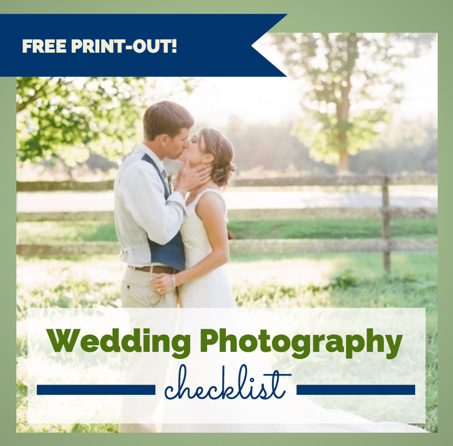 ultimate wedding photography checklist free print out