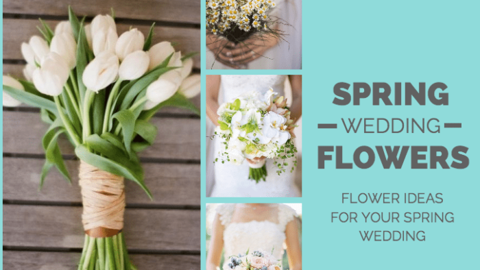 spring wedding flowers