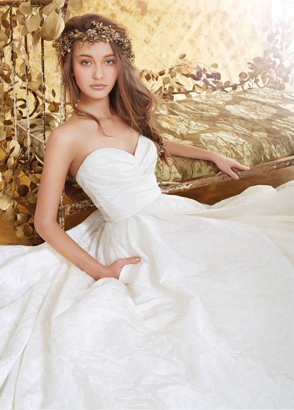 White Blush Wedding Gown