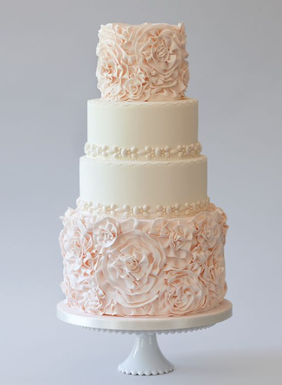 Pinterest Pink Wedding Cake