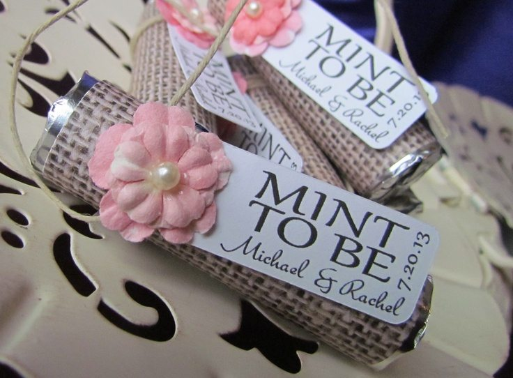mint wedding favor
