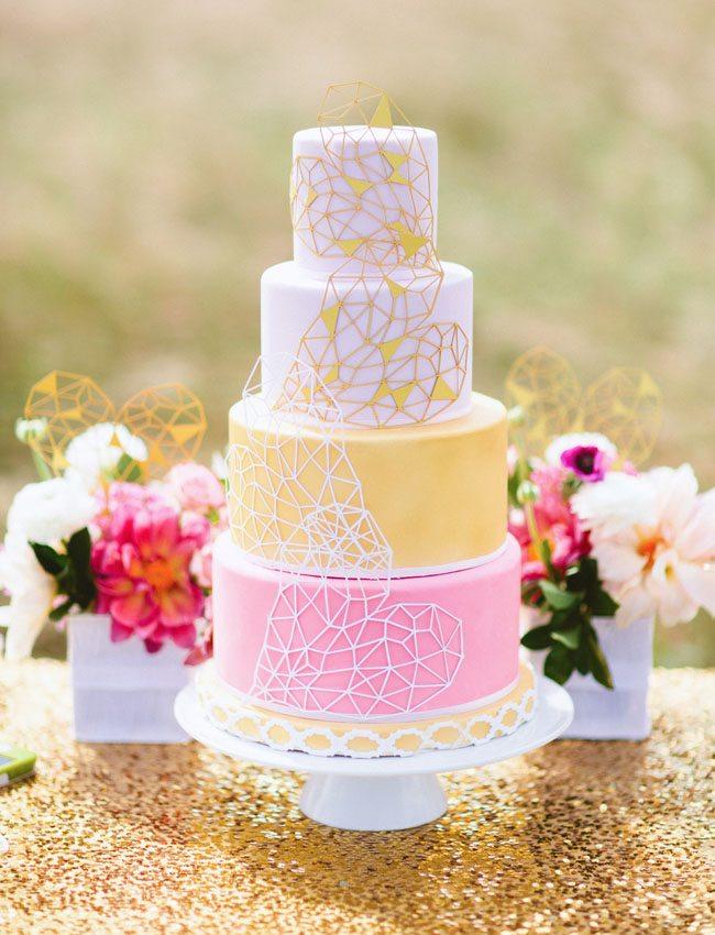 Pink Spring Wedding Cake