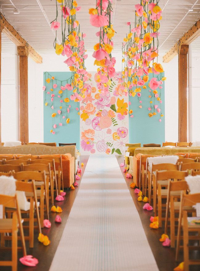 Pink Floral Ceremony