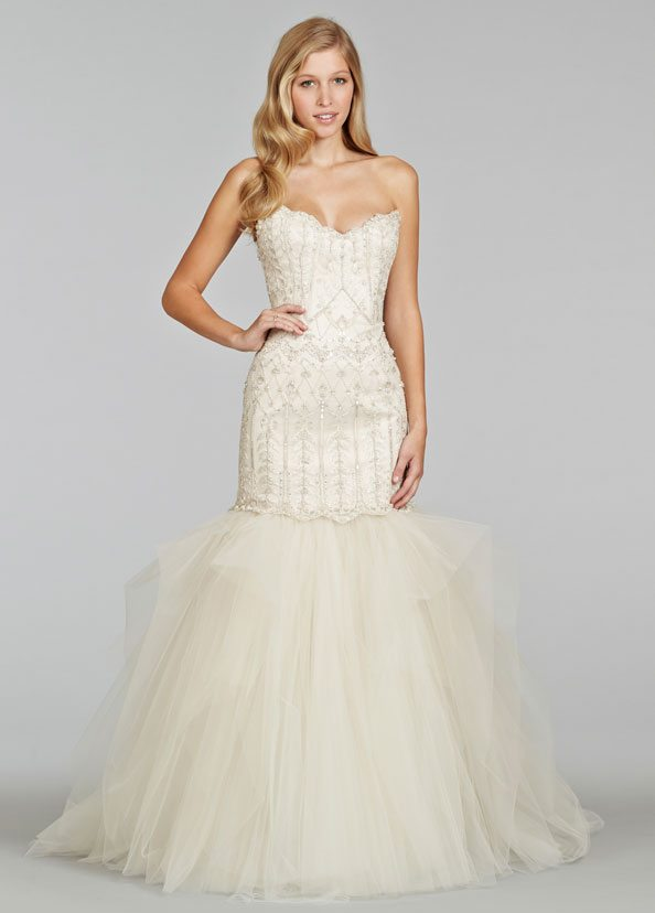 Champagne White Wedding Gown