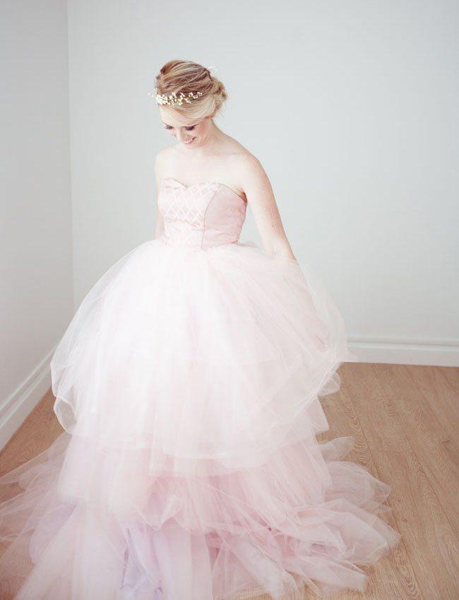 Pink Ball Gown Wedding Dress