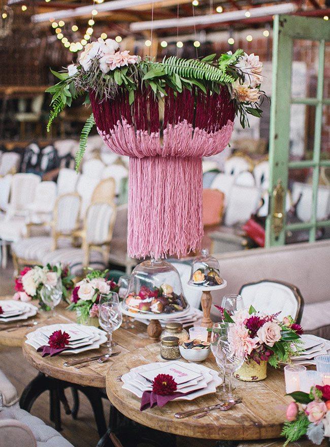 Pink Bohemian Wedding