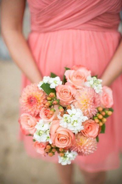 Coral Bouquets Wedding