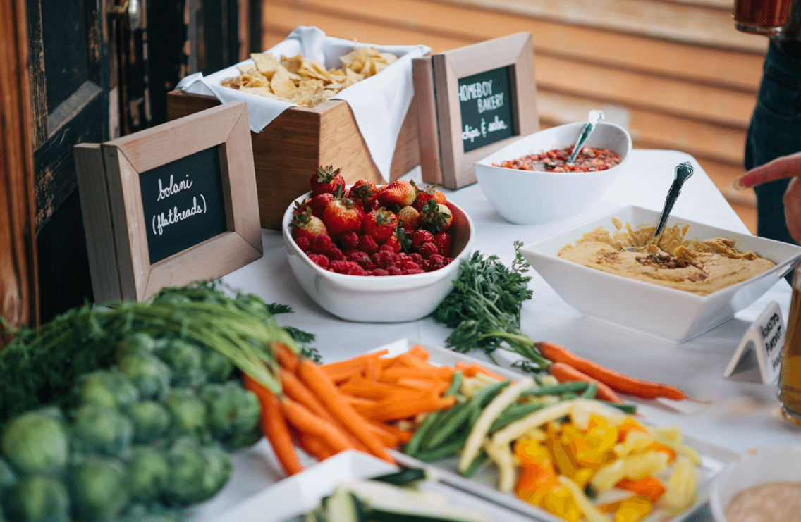 Organic Wedding Food Theme