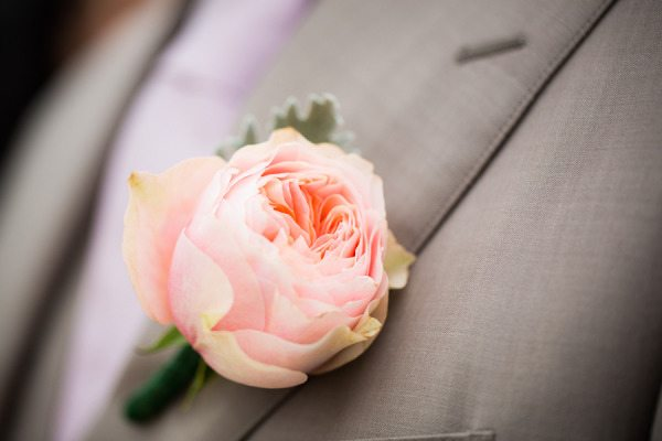 wrapping the boutonniere materials ideas - Garden Rose Boutonniere