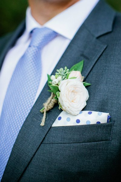 Twine Wrapped Boutonnieres