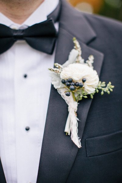 Lace Wrapped Boutonnieres