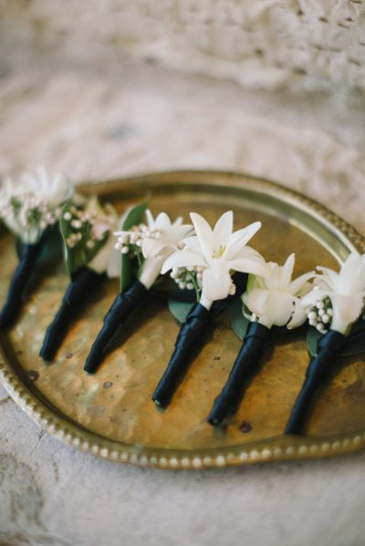 Ribbon Wrapped Boutonnieres