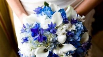 Royal Blue Wedding Bouquet