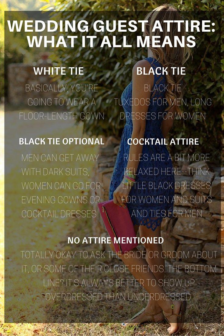 wedding attire etiquette