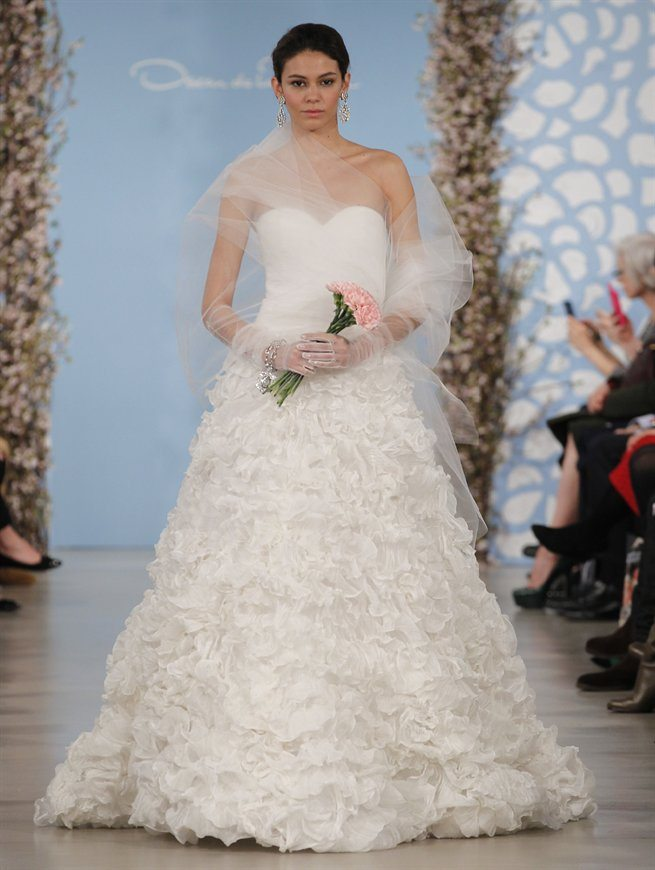 Wedding Dresses with Textured Skirts