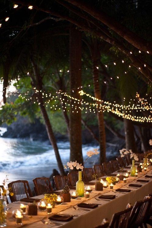 destination wedding reception