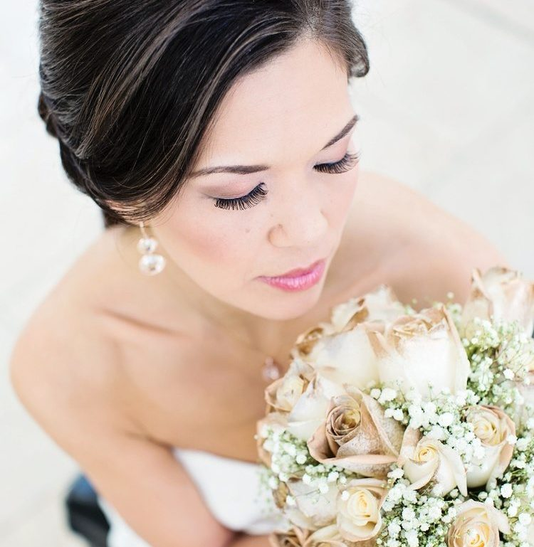Gold Dipped White Rose Bouquet