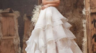 Wedding Gowns with Textured Skirts