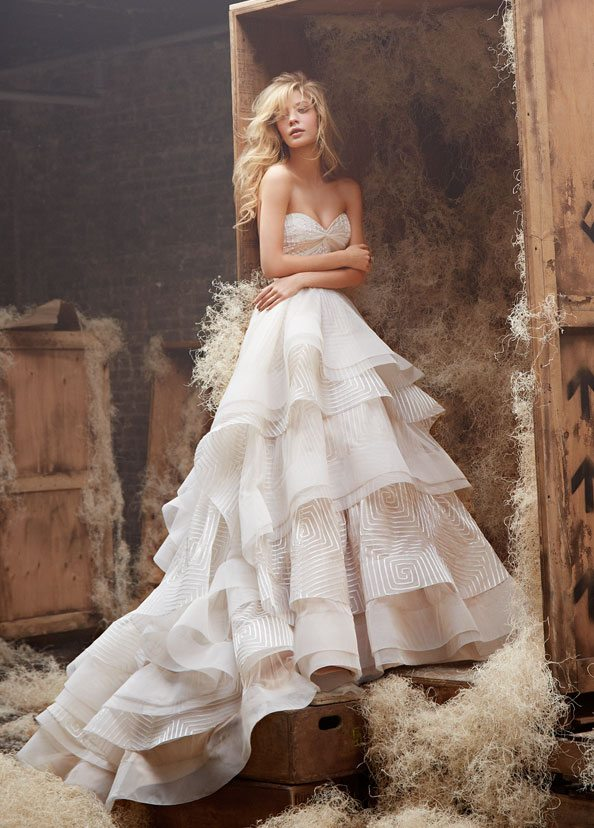 WOW Wedding Gowns With Textured Skirts