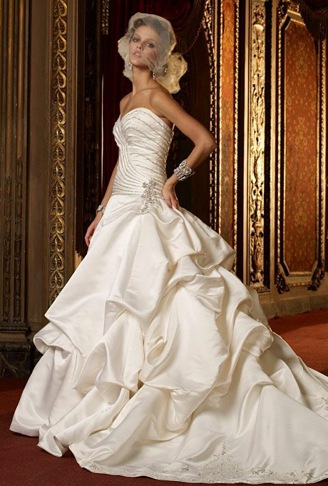 Wedding Ball Gowns with Pick-up Skirts