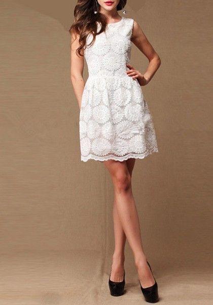 white dress bridal shower