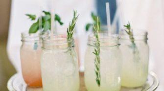 Mason Jar Signature Cocktail Weddings