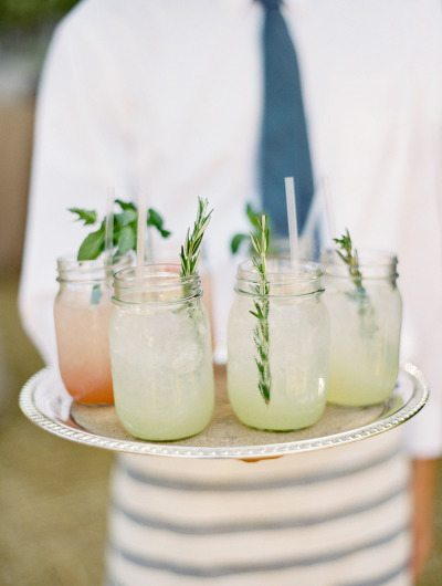 Mason Jar Signature Cocktail Weddings